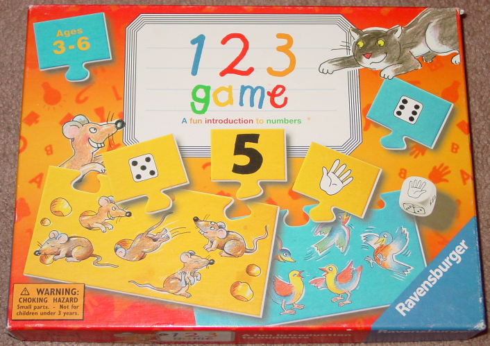 Primary image for 123 GAME INTRODUCTION TO NUMBERS RAVENSBURGER 2003 COMPLETE EXCELLENT EDUCATION