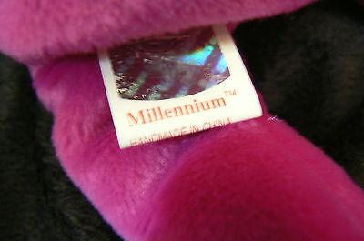 """Ty Original Beanie Baby """" Millennium """" Errors New !999 Retired Kept In Case"""