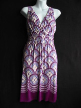 "DRESS BY ""ELLE"" - PURPLE PRINT - SLEEVELESS - SMALL - NWT - $50.00"