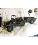 GI Joe Jeep With Trailer- Vintage - $48.00