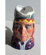"Vintage Toby Character Jug ""Sitting Bull"" Made in England Small 3 1/2"" L... - $11.35"