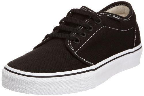 Vans Men's VANS 106 VULCANIZED SKATE SHOES 12 (BLACK/WHITE)
