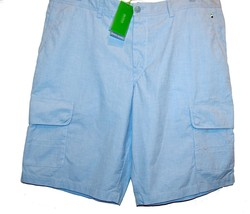 Hugo Boss Light Blue Men's Cotton Shorts Size US 38 R EU 54 NEW Retail $165 - $74.44