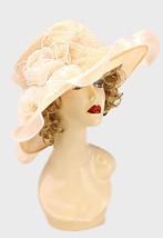 Kentucky Derby Church Wedding Dress hat Polka Dot Organza Champagne SW 9... - $38.48 CAD