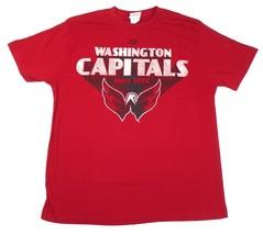 Large Washington Capitals Shirt Men's NHL Hockey Since 1974 Vintage Tee Red