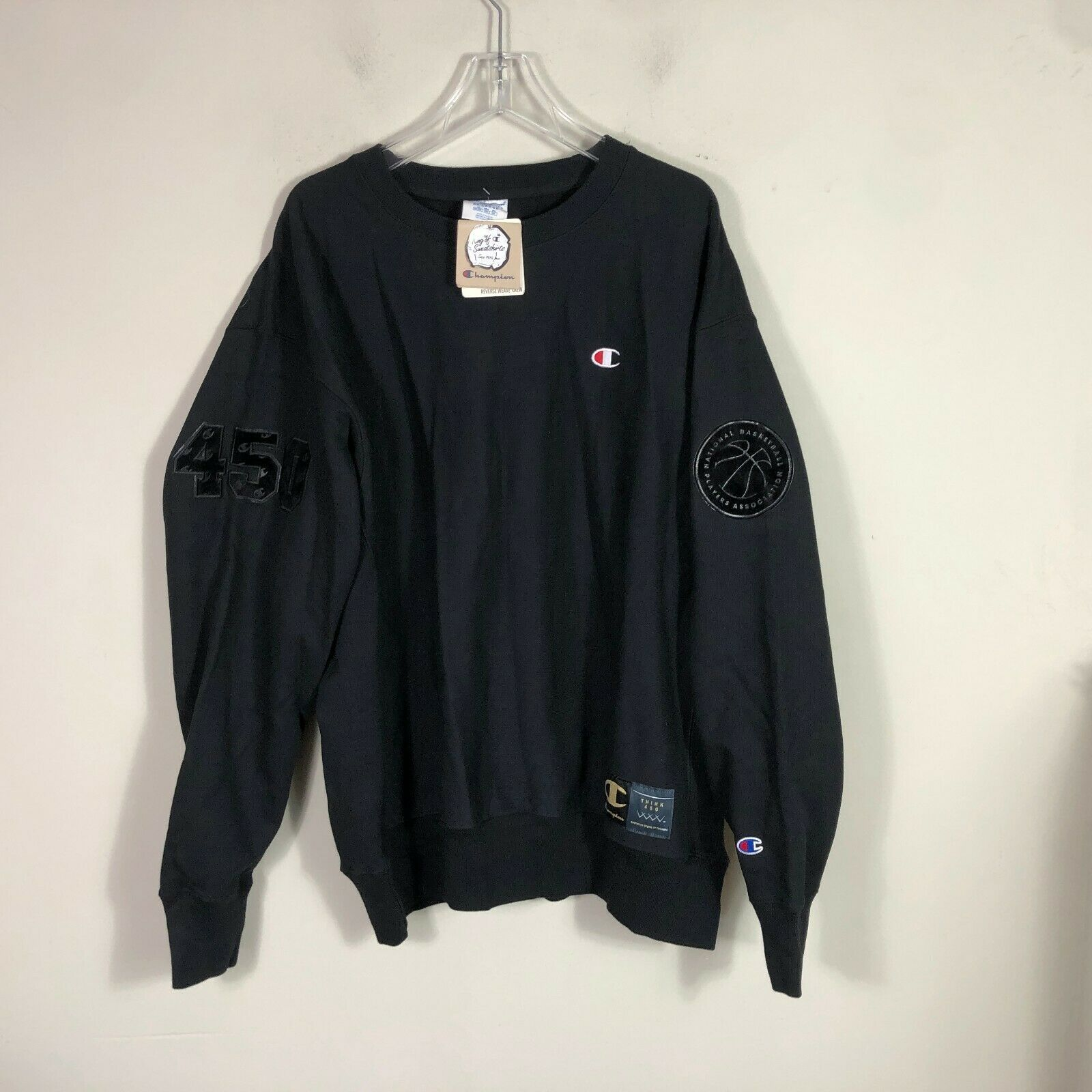 Vintage Champion Crew Neck Reverse Weave Sweatshirt 2XL NBA NBPA Sweatshirt NWT image 9