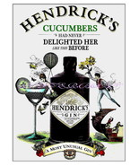 "Hendricks Gin ""Cucumbers"" Advertising 13 x 10 inch Giclee CANVAS Print - $19.95"