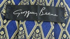 Geoffrey Beene Necktie Tie Silk Lot of 2 Black Blue Brown Geometric Swirls image 6