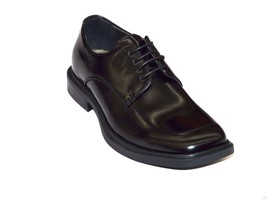 Kenneth Cole Mens shoes Leather Mock Toe Square Lace up Merge Black KM25... - $104.99