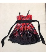 Speeckless Red Black Floral Dress Size 3 - $29.66