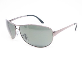 NEW RAY BAN Warrior RB3342 004 Gunmetal w/G-15 Green Lens 63mm - $442.32