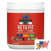 Garden of Life, Dr. Formulated Keto Fit Weight Loss Shake, Chocolate, 12.87 oz ( - $55.41