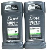 2 Ct Dove Men Care 2.7 Oz Fresh  Stain Defense Anti Yellow 48 Hr Antiperspirant - $20.99