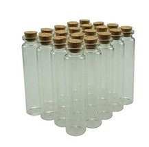 20 Pack of Mini Glass Bottles Sample Jars with Cork Stoppers for Art Cra... - $17.00