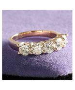 2.50 Ct Round Diamond Five-Stone Engagement Ring Silver VVS1/D Jewelry !! - $73.07