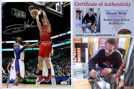 Joakim Noah Chicago Bulls SIGNED 8x10 Dunk Photo - £36.95 GBP