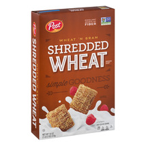Post, Shredded Wheat Breakfast Cereal, Wheat & Bran, 18 Oz - $6.50
