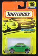 1997  Matchbox  Green VW Concept   Card #49   MB-1 - $2.75