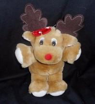 "12"" Vintage 1990 Commonwealth Christmas Baby Reindeer Stuffed Animal Plush Toy - $28.05"