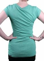 Bench Urbanwear Womens Green Heather Deckhand Logo T-Shirt BLGA2358 NWT image 2