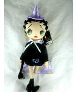Witch Betty Boop Halloween doll lavender hat and cape lining New with tag - $10.39