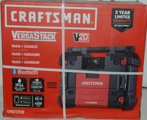 Crafstman CMST17510 Versa Stack Radio and Charger with Blue Tooth Corded
