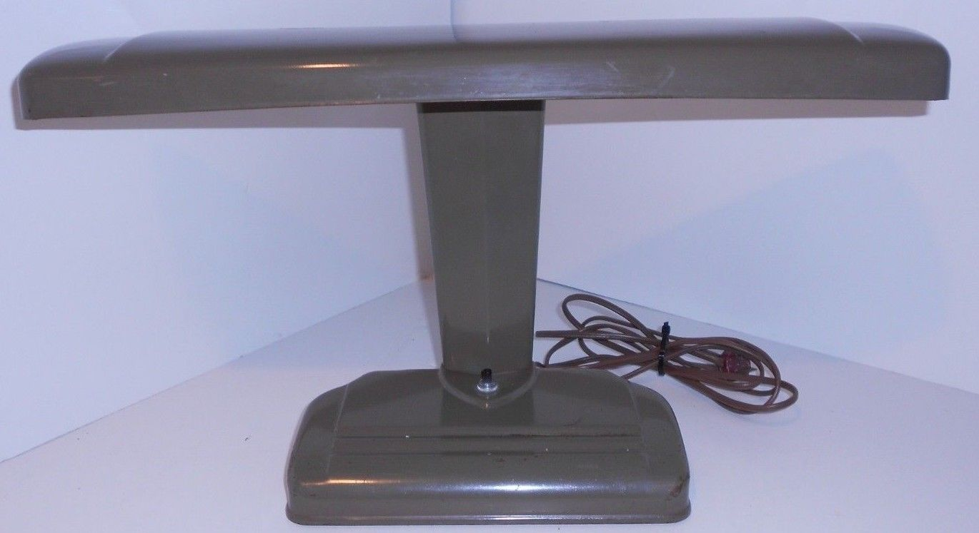 Primary image for Original Vintage Mid Century Industrial Modern Heavy Duty Art Deco Desk Lamp