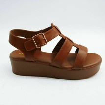 Bamboo Womens Bonus Gladiator Sandals Brown Straps Flatform Buckle 9 New - $17.80