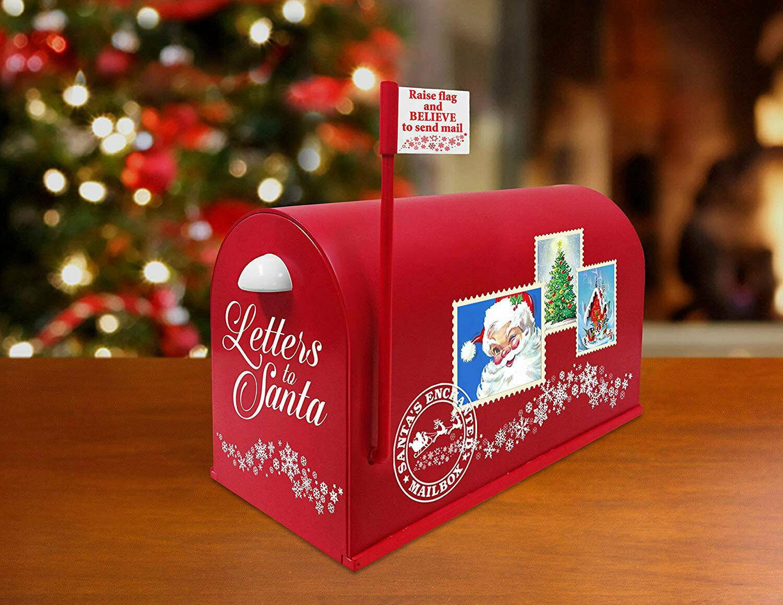 Letter To Santa Magic Mailbox Christmas Decoration w/ Sound Hidden Send Chamber - $48.58