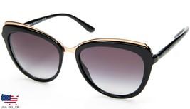New D&G Dolce&Gabbana DG4304 501/8G Black /GREY Sunglasses 57-17-140 B48mm Italy - $151.05