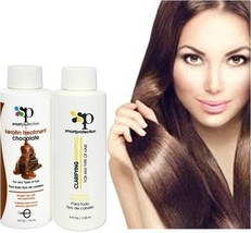 Infinito Colors Chocolate Strong Keratin Treatment w/ Clarifying Shampoo 4oz NEW - $33.24