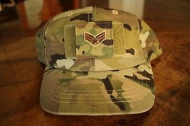 Usaf Us Air Force Multicam Ocp I/A E-4 Camouflage Combat Ballcap Ball Cap Hat - $29.69