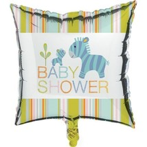 "Happi Jungle Baby Shower 18"" Foil Mylar Balloon Zebra - $4.39"