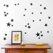 (black)39Pcs DIY Little Gold Star Stickers Home Decor Living Room Decora... - $14.00
