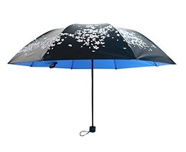 Cherry Clear Umbrella Three Folding Sun Umbrellas Vinyl Sun Umbrella - $23.89