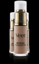 Authentic Veer Cosmetics Liquid HD Studio Foundation Med Beige 0.68 fl o... - $27.75