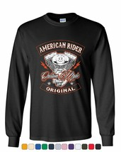 American Rider Long Sleeve Tee Custom Made Motorcycle Route - $12.11+