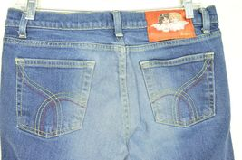 Fiorucci jeans 9 x 31 vintage buttons on pockets medium dark wash thick straight image 9