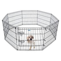 HACHI SHOP Pet Playpen Foldable Exercise Pen for Dogs Cats Rabbits - 24 ... - $45.22
