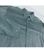 Ermenegildo Zegna Gray Dress Shirt Sz XL Italy - $29.99