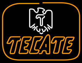 "Tecate Golden Border Eagle Neon Sign 16"" x 16"" - $799.00"