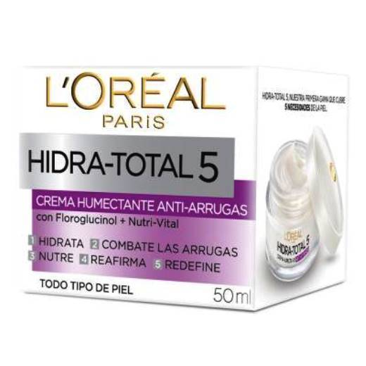 Primary image for L'Oreal HIDRA-TOTAL 5 ANTI-WRINKLES (ANTI-ARRUGAS ) 2 PACK .