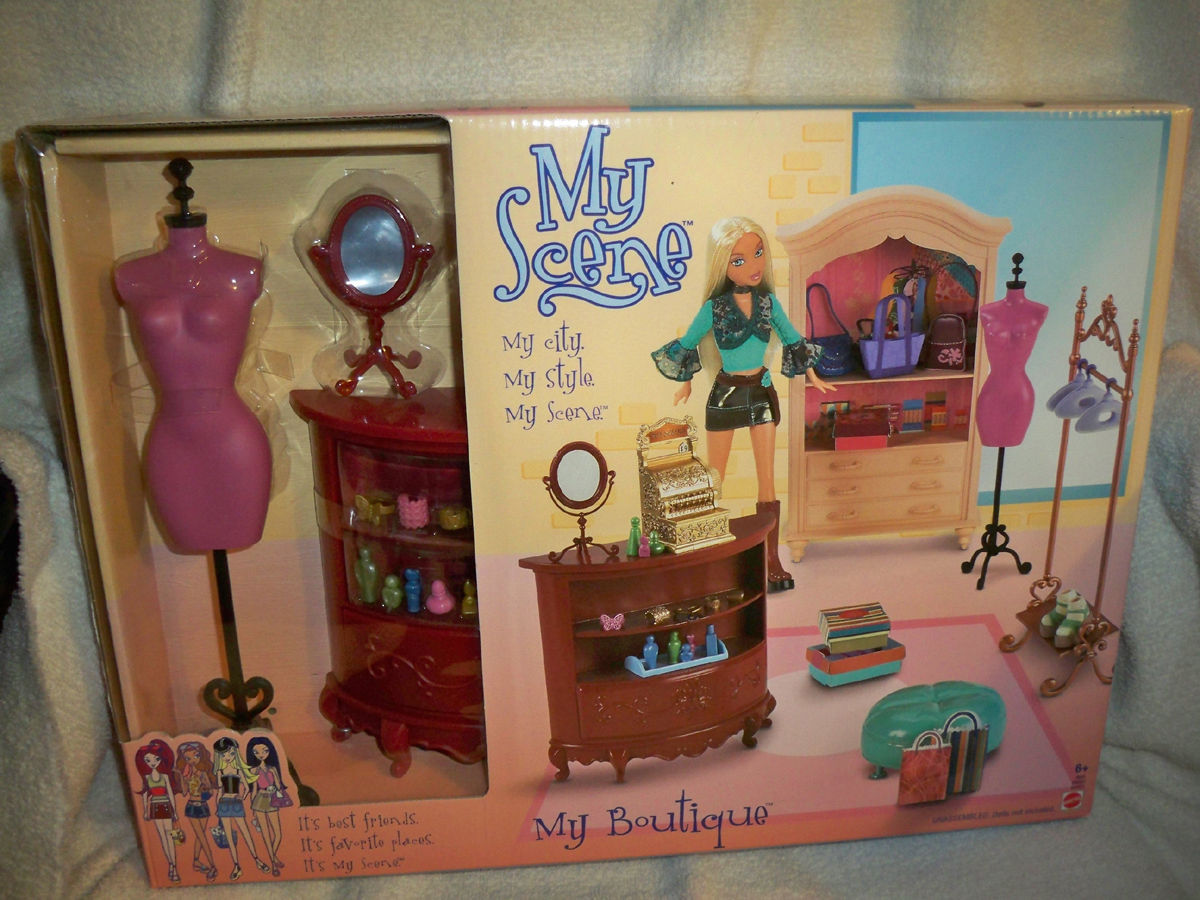 My Scene Barbie Doll My Boutique Playset and 14 similar items