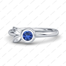 Cute Animal Rabbit Blue Sapphire Rabbit Ring In White Gold Plated Silver... - ₹3,937.55 INR