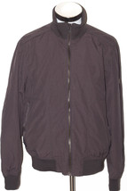 BEN SHERMAN Coat Mens Biker Jackets Zipped Funnel Neck Clay LARGE - $79.65