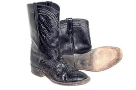 Dan Post Black Leather Cowgirl Western  Boots Size 7 95244 P2904 9801 - $61.65