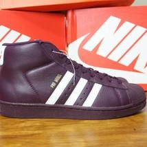 Adidas pro Model Shell Toe Superstar AC7646 Rot Night Gold Sz 9.5 Eur 43... - $114.03