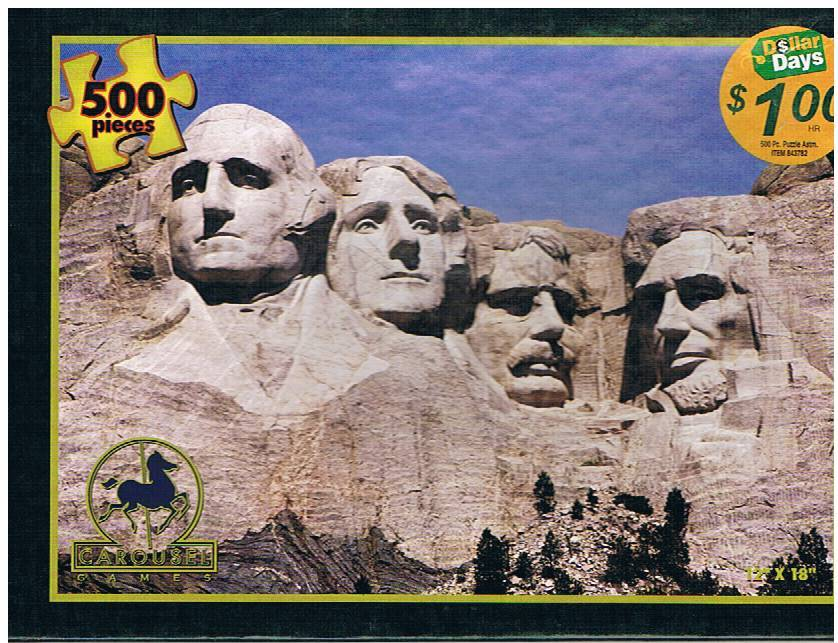 "Fun4u 500-piece Jigsaw Puzzle ""Mount Rushmore"" - Freebie!"