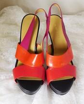 "Nine West Women's Shoes High Heel 5"" Open Toe Size 7.5M - Leather Upper ... - €16,44 EUR"