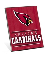 "NFL Arizona Cardinals Logo Premium 8"" x 10"" Solid Wood Easel Sign - $9.95"